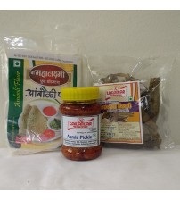 Combo of Amboli Peeth, Amla Pickle, Sandgi Mirchi