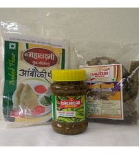 Combo of Amboli Peeth, Chilli Pickle, Sandgi Mirchi