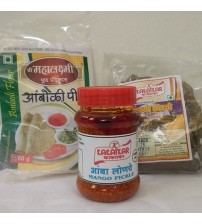 Combo of Amboli Peeth, Mango Pickle, Sandgi Mirchi