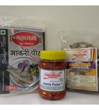 Combo of Bhakari Peeth, Amla Pickle, Sandgi Mirchi