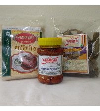 Combo of Thalli Peeth, Amla Pickle, Sandgi Mirchi