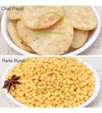 Combo of Chat Papdi and Masala Raita Bundhi