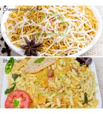 Combo of Bhel Puri and Cheese Garlic Sev